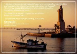 Una imagen de las postales distribuidas por el Partido Popular.