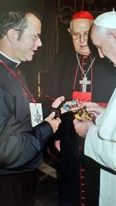 Junto al Papa Francisco.