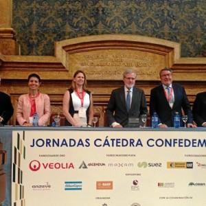 Un momento de la participación de la directora general de MATSA, Audra Walsh, en la jornada 'Desarrollo sostenible de la actividad minero-metalúrgica', organizada por CONFEDEM y la Escuela Técnica Superior de Ingenieros de Minas de Madrid.