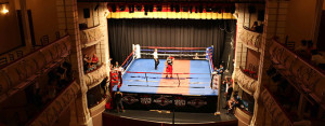 El Gran Teatro ha sido escenario del boxeo, donde Huelva logró dos medallas en la penúltima jornada.