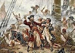 Los barcos corsarios franceses e ingleses merodeaban por la Barra de Huelva.