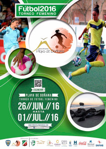 Cartel del torneo de fútbol femenino que tendrá lugar en Matalascañas.