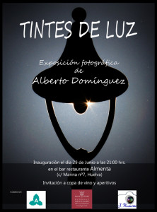 Cartel de la exposición 'Tintes de luz'.