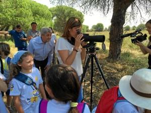 Más de 500 escolares han participado en el programa de educación ambiental 'Marismas del Odiel: A vista de Águila'.