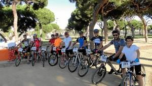 Un momento ruta ciclista que se celebró a beneficio de la Asociación Ánsares.