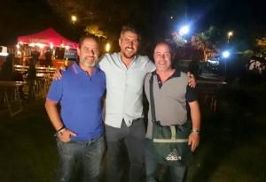 De izquierda a derecha, Manolo Vaz, Natanael Lopez y Fredi Vaz