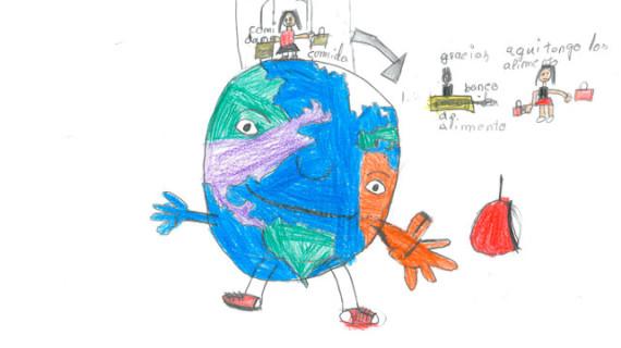 Andrés Pinzón, del Colegio Entrepinos, gana un concurso de dibujos del Banco de Alimentos