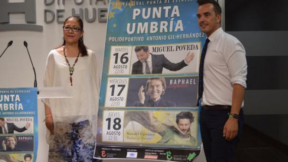 Miguel Poveda, Raphael y Manuel Carrasco encabezan el Festival 'Punta de Estrellas'