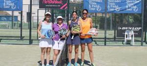 Las cuatro jugadoras que disputaron una competida final femenina.