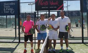 Protagonistas de la final masculina del torneo.