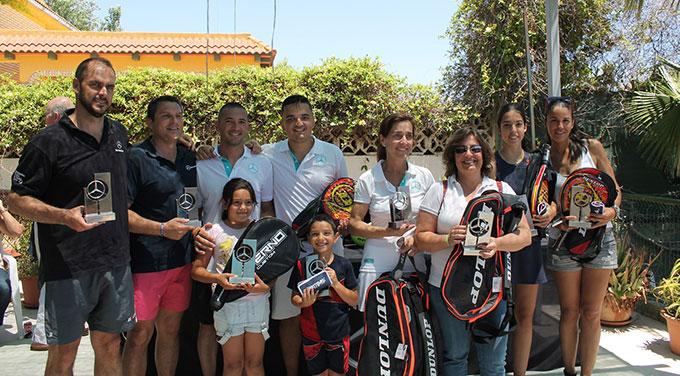 Mora-Jiménez, en hombres, y Santos-García, en féminas, las parejas ganadoras en el Torneo Adarsa Sur de Pádel