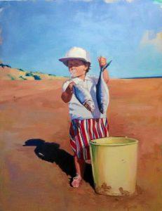 Obra 'Pequeña Pescadora' con la que ha obtenido el III Premio Pepa Pinto.