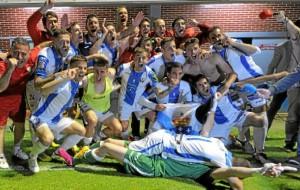 Un momento de la celebración del ascenso del Leganés  a Primera División.