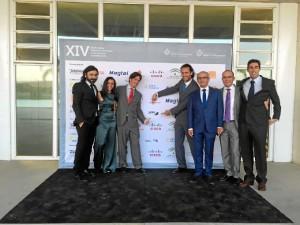 Gonzalo Leandro y Rodrigo Delgado, socios y administradores de Gabitel Ingenieros, y otros miembros del equipo de Gabitel.