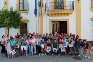 Los jugadores han sido recibidos en el Ayuntamiento.
