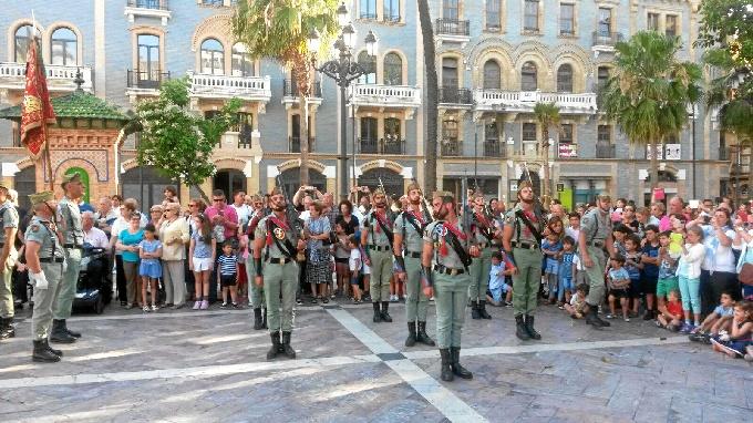 La Legión Española en la Plaza de las Monjas de la capital.