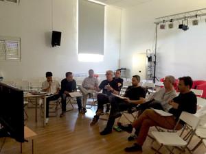 Reunión del jurado de la última edición de Contemporarte.