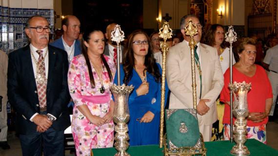 Esperanza Fernández y Ana Jiménez, hermanas mayores de la Hermandad del Rocío de Isla
