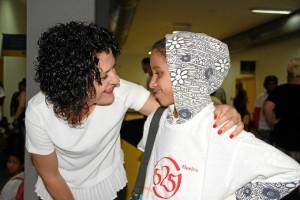 Un momento de la llegada de los niños saharauis a la provincia.