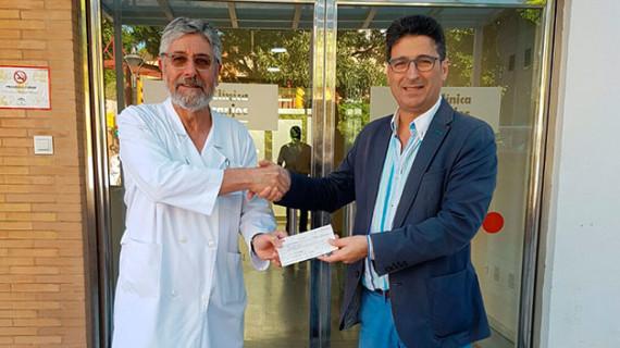 La clínica Los Naranjos de Huelva entra de lleno en la Campaña de Salvación del Recreativo