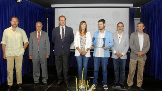 Entregado el III Premio Befesa de Periodismo Medioambiental al periodista de La Sexta Carlos Prado