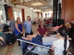 El delegado ha visitado la Casa Colón y felicitado a los donantes.