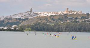 Pantano de Arcos de la Frontera, espectacular escenario del Campeonato.