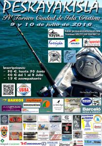 Cartel anunciador del concurso de pesca que tendrá lugar en Isla Cristina.