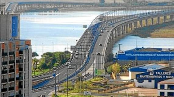 El acceso superior al puente del Odiel en dirección a Punta Umbría queda cerrado hasta finales de febrero