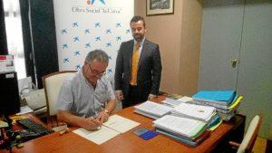La Obra Social la Caixa apoya la construcción parque biosaludable en Zufre.