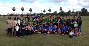 La cantera, una de las claves del Club Rugby Bifesa Tartessos de Huelva.