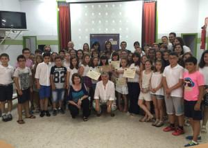 Participantes en la clausura del programa 'Mi Marisma, mi Escuela'.