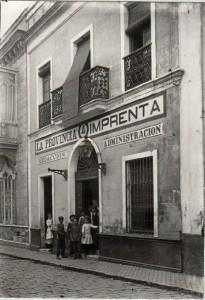 Sede del diario 'La Provincia' en Huelva. / Foto: Grupo Ayer y Hoy.