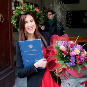 Vicky Almansa se ha graduado en la Universidad de Pisa.