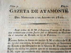 Gazeta de Ayamonte, el primer periódico onubense. / Foto: Mari Paz Díaz.