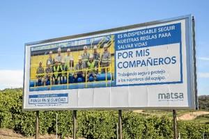 Imagen de la nueva campaña de seguridad de MATSA.