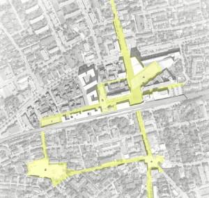 Plano del lugar de intervención del proyecto.