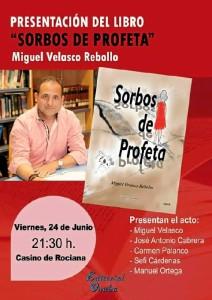 Cartel del acto de presentación del libro.