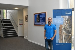 En la School of European Cultures and Languages de la University of Kent, donde trabaja y estudia.