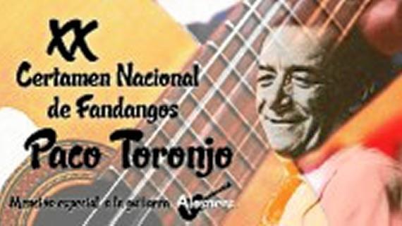 Alosno organiza su XX Certamen Nacional de Fandangos de Huelva y su Provincia 'Paco Toronjo'