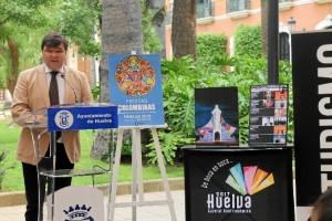 El alcalde de Huelva, durante la presentación.
