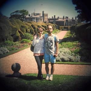 Visitando el Walmer Castle en Deal (Kent) con mi novia Amy.