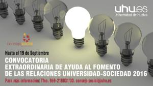 Ayudas para fomentar las relaciones Universidad-Sociedad.