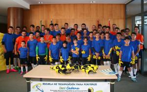 Participantes en el Campus de fútbol para porteros de Dani Cadena.
