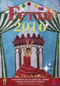 Cartel de la Feria Agosteña 2016 de Valverde del Camino.