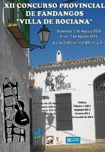 Rociana celebra el 5 de agosto la XII Edición del Concurso Provincial de Fandangos 'Villa de Rociana'.