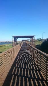 La ruta engancharía con el carril bici del Paseo de la Ría de Huelva.