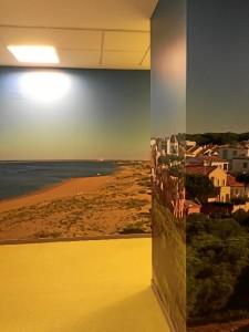 El proyecto nos traslada directamente a la playa de Huelva.