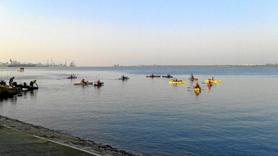 La Semana Náutica Colombina celebra su III Concurso de Pesca sobre Kayak de Mar