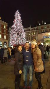 Navidad en Covent Garden con dos amigas de Huelva que fueron de visita.
